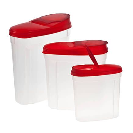 Pour and Store Plastic Dispensers Set of 3-356146