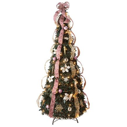 6-Foot Fully Decorated Victorian Pull-Up Tree by Holiday Peak™-356213