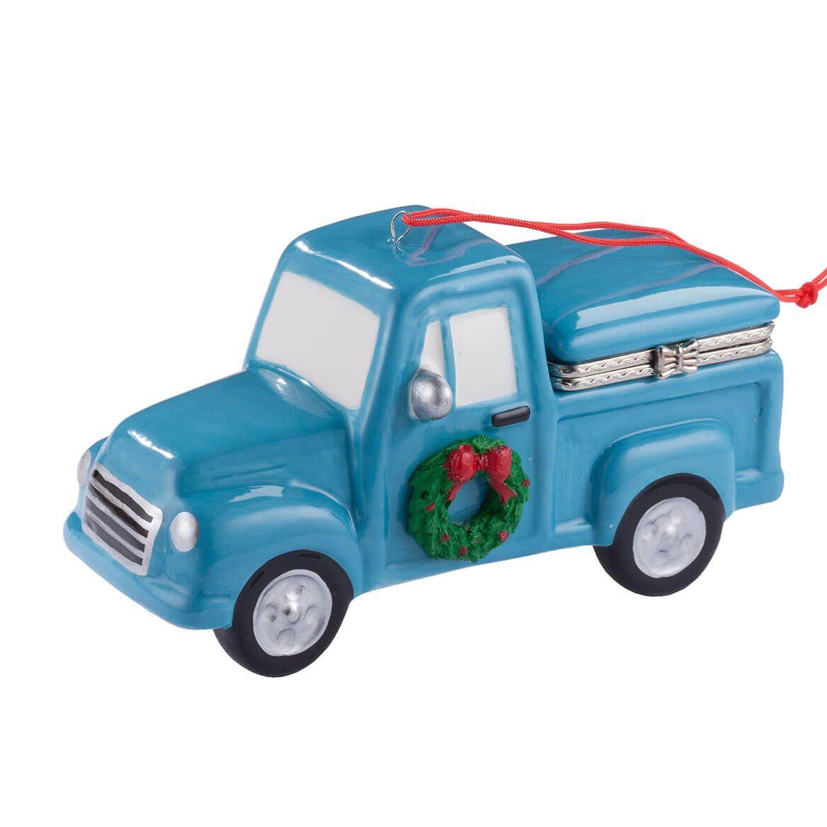 Vintage Truck with Tree Ornament Trinket Box-356327