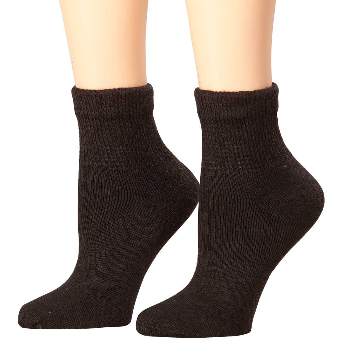 Black 8 Pack Sock Size 10-13 Athletic Socks Womens Running Socks Quarter Cut