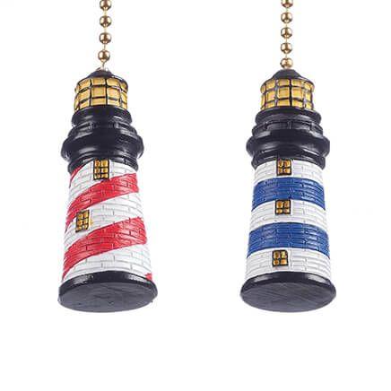 Lighthouse Fan & Light Pulls, Set of 2-356524