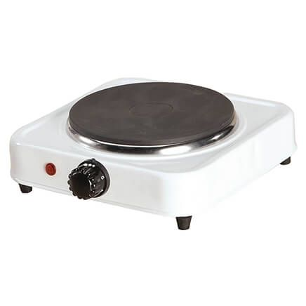 White Solid Single-Top Hot Plate  by Home-Style Kitchen-356738