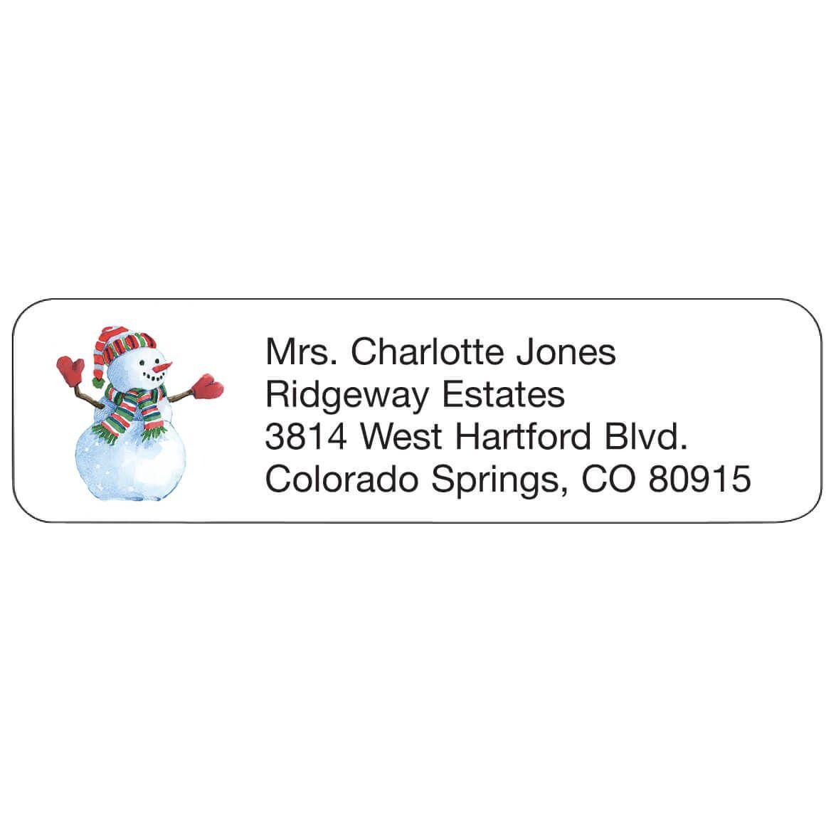 Personal Design Labels Snowman Set of 200-357758