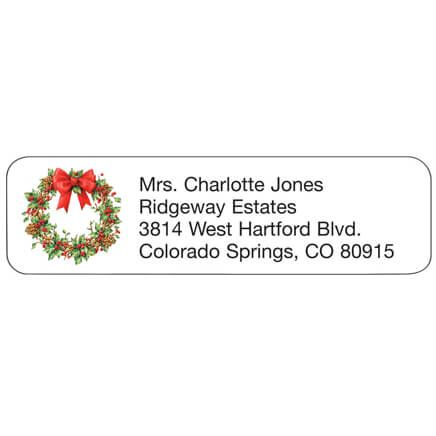 Personal Design Labels Holiday Wreath Set of 200-357759