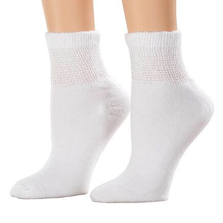 Silver Steps™ 3 Pack 1/4 Cut Cool + Dry Diabetic Socks-358708