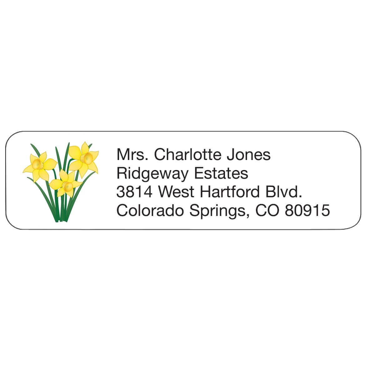 Personal Design Labels Daffodils-358936