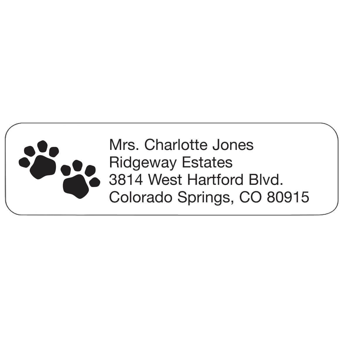 Personal Design Labels Pawprints-358940