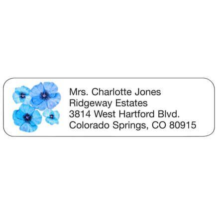 Blue Flower Personal Design Labels-358970
