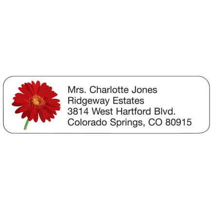 Personal Design Label Red Daisy-358976
