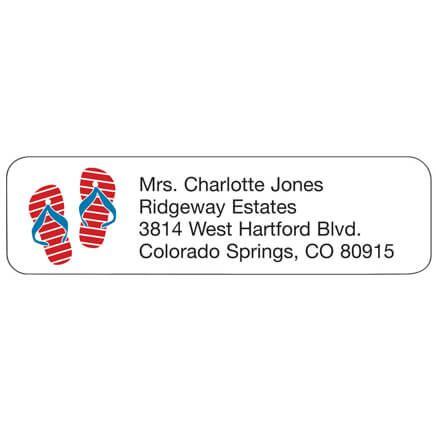 Personal Design Label Flip Flops-358978