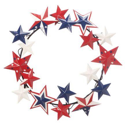 Metal American Barn Star Wreath by Fox River Creations™-359036