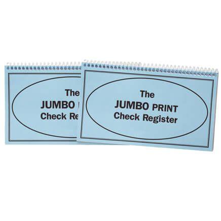 Giant Print Check Register, Set of 2-359358
