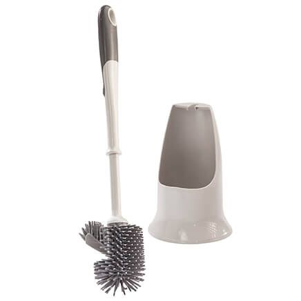 Silicone Toilet Brush with Holder-359633