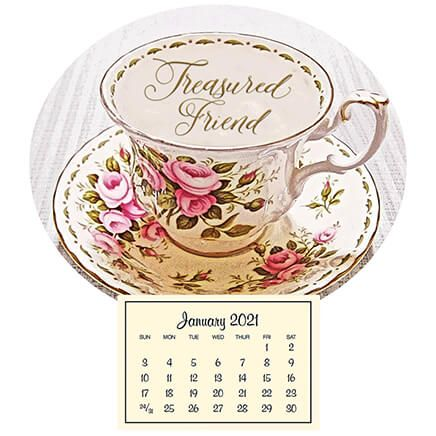 Mini Magnetic Calendar Vintage Teacup-360119
