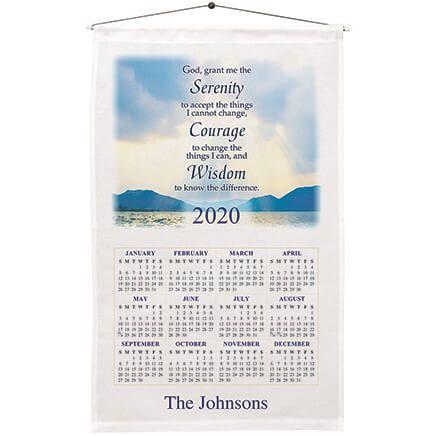 Personalized Serenity Prayer Calendar Towel-360125