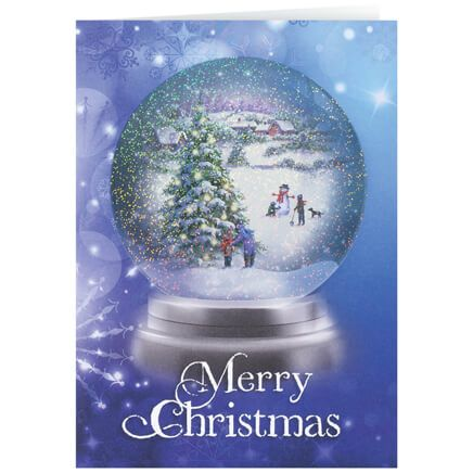 Personalized Winter Snowglobe Christmas Card Set of 20-360179