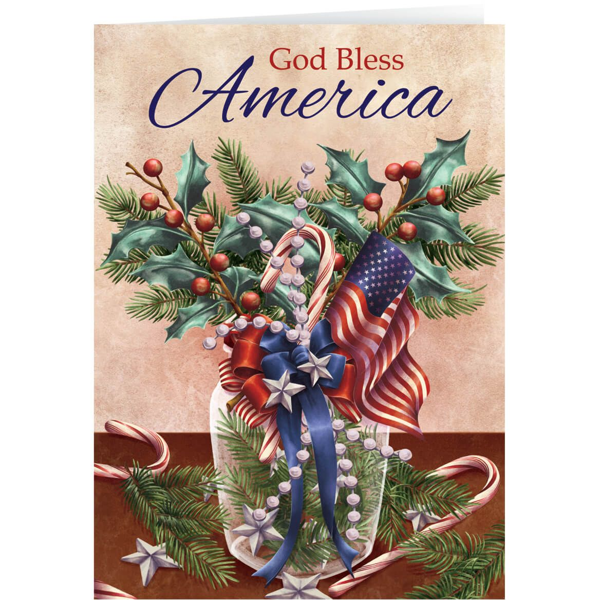 Patriotic Blessing Bookmark Christmas Card Set of 20-360205