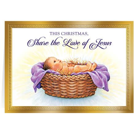 Personalized Share the Love of Jesus Christmas Card Set/20-360213