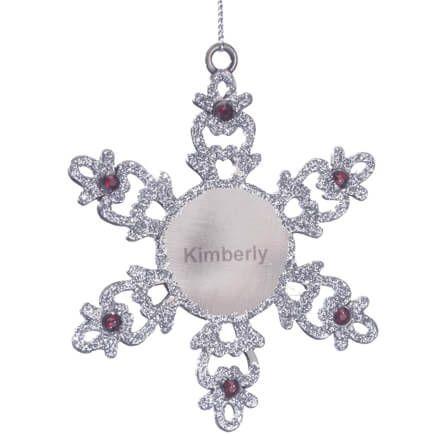 Pewter Birthstone Snowman Ornament