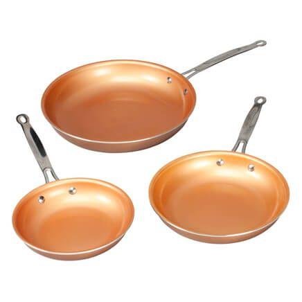 Ceramic Copper Non-stick Fry Pan Set of 3-360478