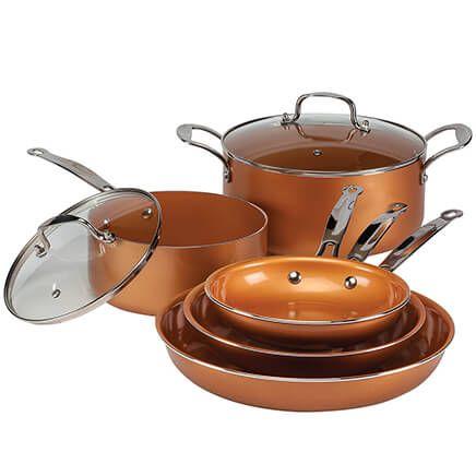 Ceramic Copper Non-stick Cookware Value Set-360479