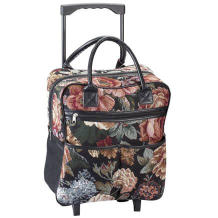 Rose Tapestry Rolling Tote-360528