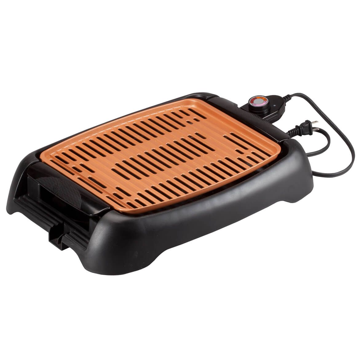 """NonStick Ceramic Copper 13"""" Countertop Electric Grill By Home Marketplace-360725"""