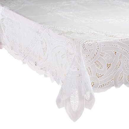 Battenburg Vinyl Lace Table Cover-361663