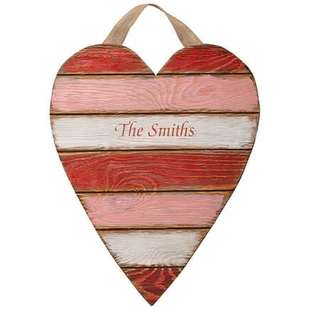 Personalized Wooden Heart Plaque-361725