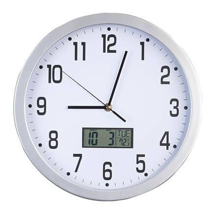 "Easy-Read 12"" Multifunction Wall Clock-362364"