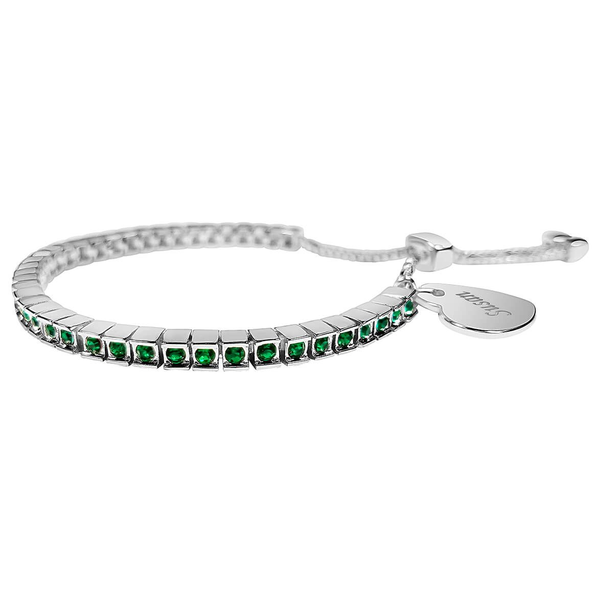 Personalized Birthstone Crystal Slide Bracelet-362421