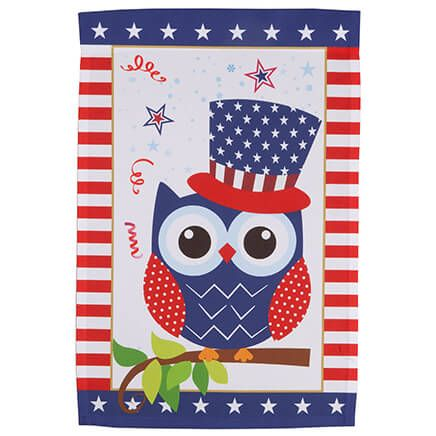 Uncle Sam Owl Garden Flag-362551