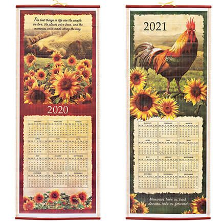 Rooster and Sunflowers Scroll Calendar-362906