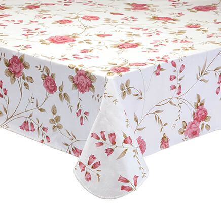 Rose Trellis Vinyl Table Cover-363042