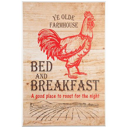 Farmhouse Bed & Breakfast Wall Art-363050
