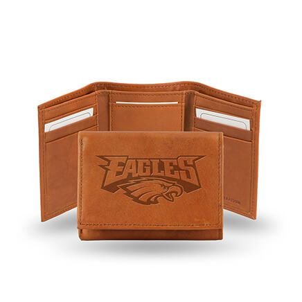 Embossed NFL Leather Trifold Wallet-363213