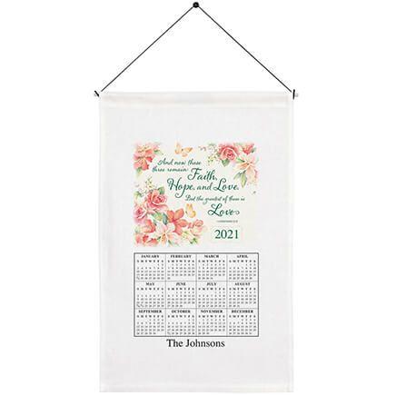 Personalized Faith, Hope, Love Calendar Towel-363284