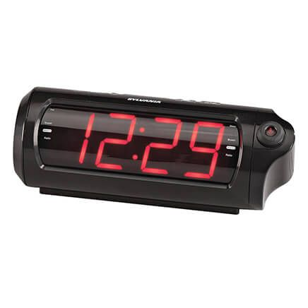 Jumbo Digit Projection Clock/Radio with USB Charging-363325