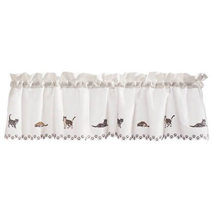 Cats Embroidered Insert Valance-363331