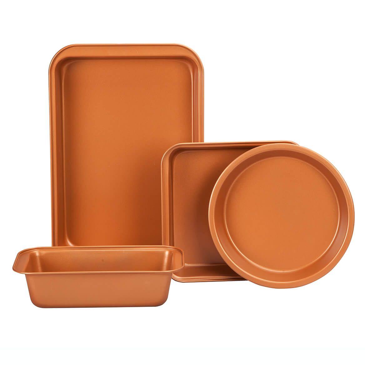 Copper Ceramic 4 PC Value Bakeware Set-363336