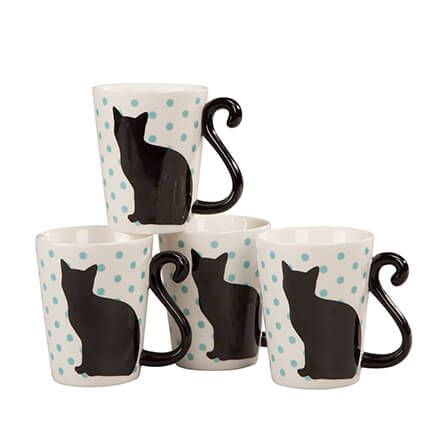 Cat Tail Mugs by Home-Style Kitchen™, Set of 4-363393
