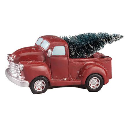 Resin Vintage Truck with Lighted Tree-363468