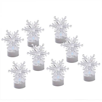 Color-Changing Snowflake Tealights, Set of 8-363550