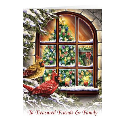 Personalized Treasured Friends Christmas Card Set of 20-363932