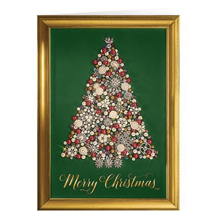 Glittering Tree Christmas Card Set of 20-364016