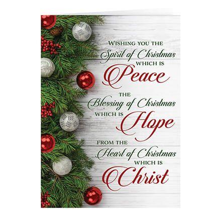 Peace, Hope, Christ Christmas Card Set of 20-364061