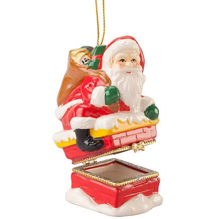 Santa Chimney Trinket Box Ornament-364154
