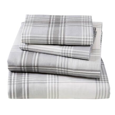 Print Flannel Sheet Set-364179
