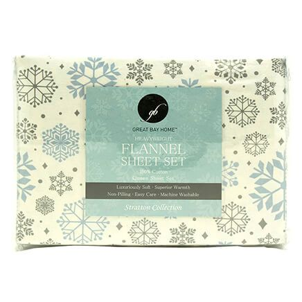 Print Flannel Sheet Set-364180