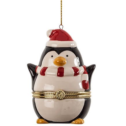 Penguin Trinket Box Ornament-364396